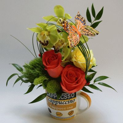CUP A JOE:  Show your appreciation with this floral arrangement done in a coffee mug. Great for teachers, friends, co-workers, assistants and so much more!  #MatlackFlorist