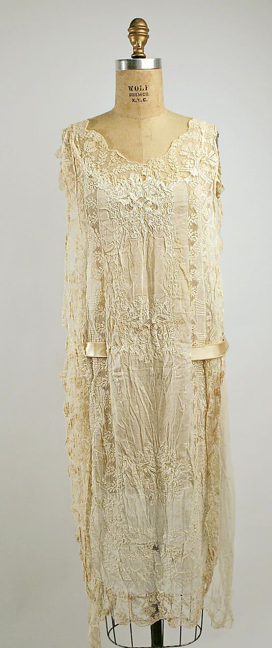 Dress  Boué Soeurs (French)  Date: 1915–25 Culture: French Medium: cotton