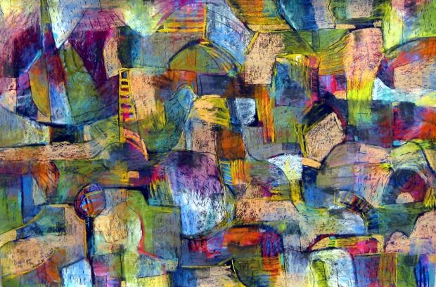 Systematically exploring the rhythms of daily life.  The methodical pace, the unusual stillness, the urgency and rush of city and urban environments and lifestyles.  Recent paintings, drawings and sculptures meander between abstraction and the figurative.  Many of the images are drawn from memory and reflect observations of movements, turns, sensations and textures.  EURO WATCHERS BY: ROSEMARIE REBER 100CM X 70CM X 4CM Pastel on Paper $798