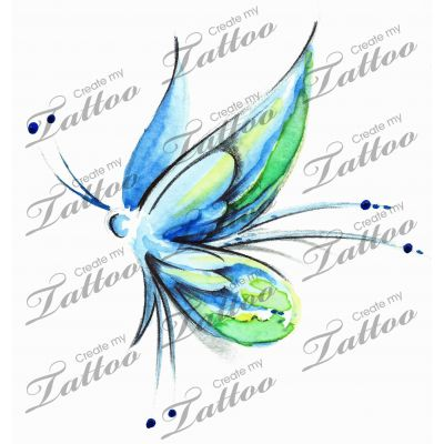 Marketplace Tattoo Butterfly Earth #17462 | CreateMyTattoo.com