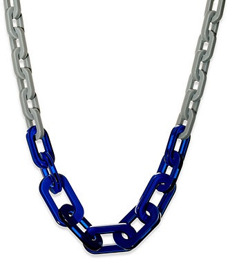 Love the touch of blue.: Bar Iii, Resins Link, Blue Resins, Statement Necklaces, Iii Necklaces, Fashion Jewelry, Link Necklaces, Products, Iii Gray