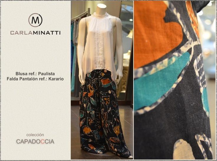Aunque el lino no se utiliza tanto en nuestra ciudad como el algodón, hemos elaborado estos pantalones en esta fibra natural que nos encanto por su frescura.