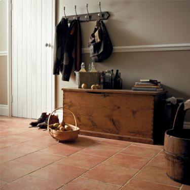 Terracotta Floor Family Room Moroccan Inspired