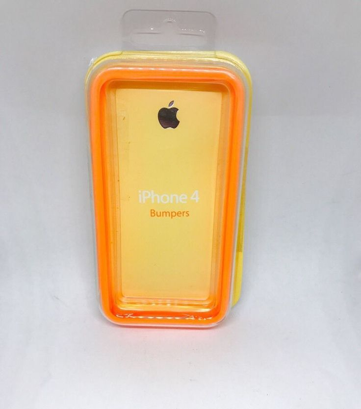 Cheap iPhone 4 Orange Protective TPU Bumper Cover Case   | eBay