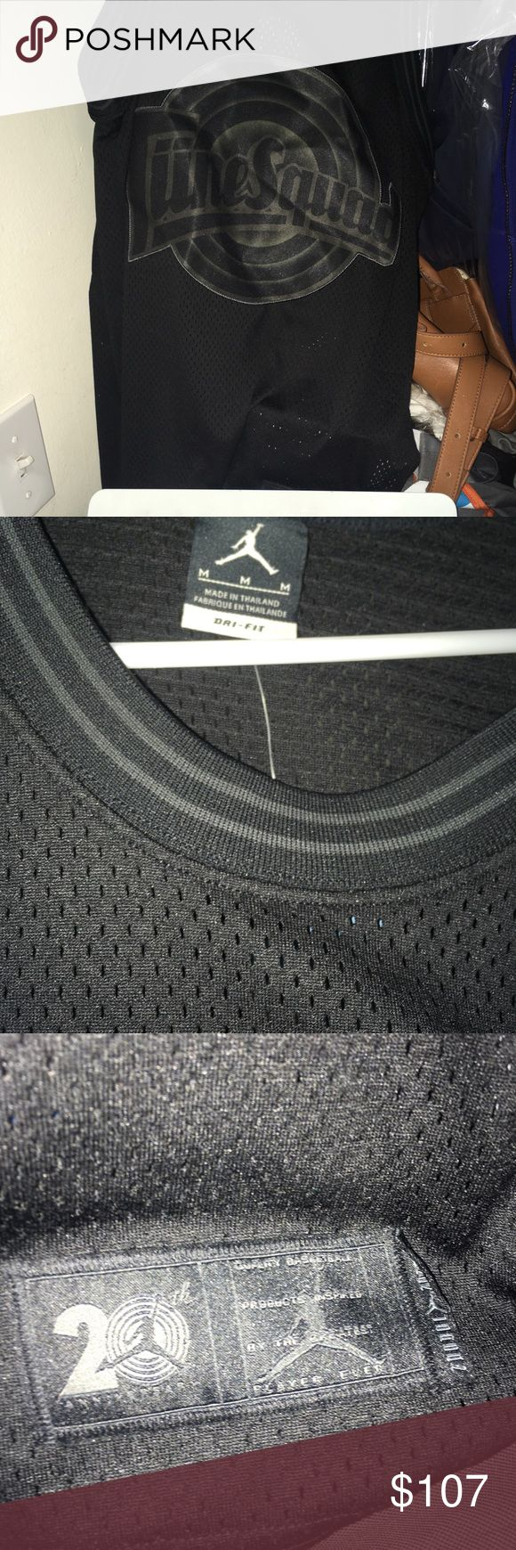 AIR JORDAN RETRO 11 SPACE JAM TUNE SQUAD JERSEY YOU'RE PURCHASING A JORDAN 11 TUNE SQUAD BLACK OUT JERSEY  BRAND NEW/NEVER WORN   COMES WITH OG ALL  CAN PRINT OUT RECEIPT FROM FOOTLOCKER IF NECESSARY   WILL COME SHIPPED DOUBLE BOXED VIA 2-3 DAY PRIORITY SHIPPING USPS   MESSAGE ME WITH ANY QUESTIONS!  THANKS Nike Shirts Tank Tops