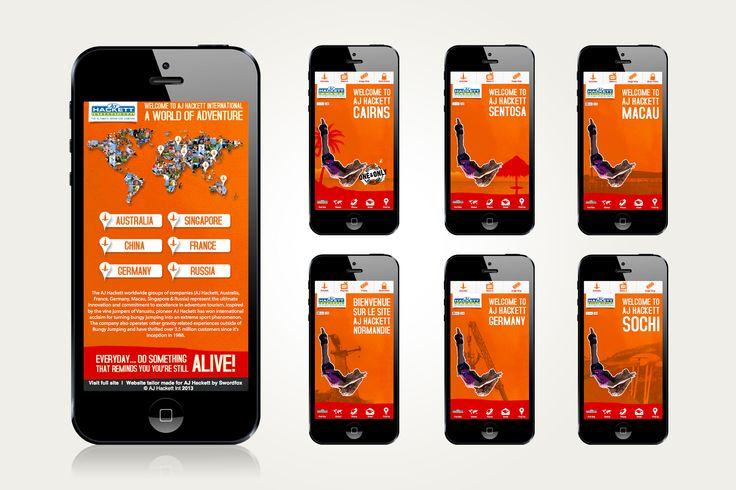 AJ Hackett International mobile site suite