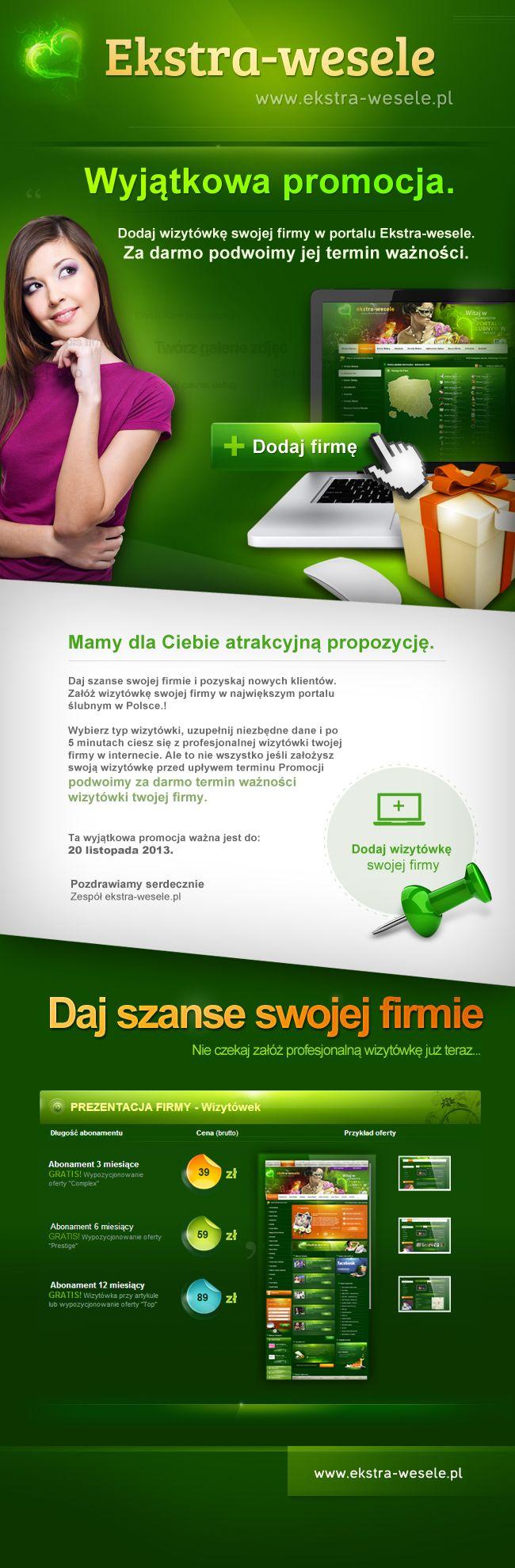 Ekstra-wesele.pl - Promotion Newsletter