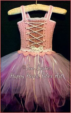 Princess Costume crochet pattern tutu dress jen Lester Happy Heart Fiber Art on Ravelry