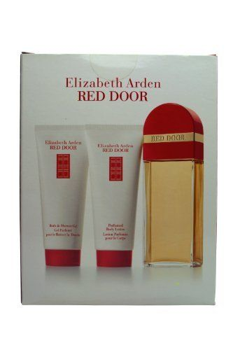 Elizabeth Arden Red Door Set for Women EDT , Body Lotion & Bath & Shower Gel by Elizabeth Arden. $64.90. If you're seeking a passionately extravagant scent bursting with rich and exotic red roses, orchids, honey and spice, look no further than Elizabeth Arden's Red Door for women. Legions of beautiful, sophisticated women have passed through Elizabeth Arden's iconic red doors for exclusive salon pampering; now you can adorn yourself with the spectacularly gorge...