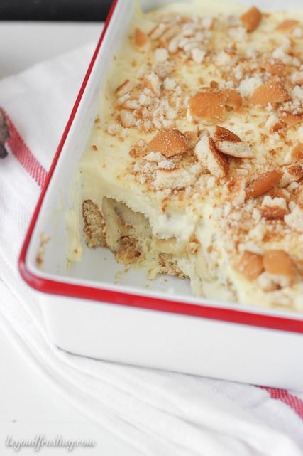 This Magnolia Bakery CopyCat Banana Pudding is the real deal. Light and fluffy mousse layered with sliced bananas and Nilla Wafers.