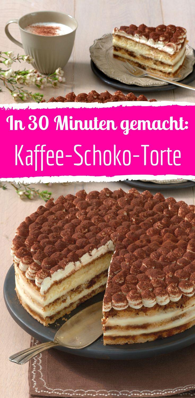 Festliche Kaffee Schoko Torte