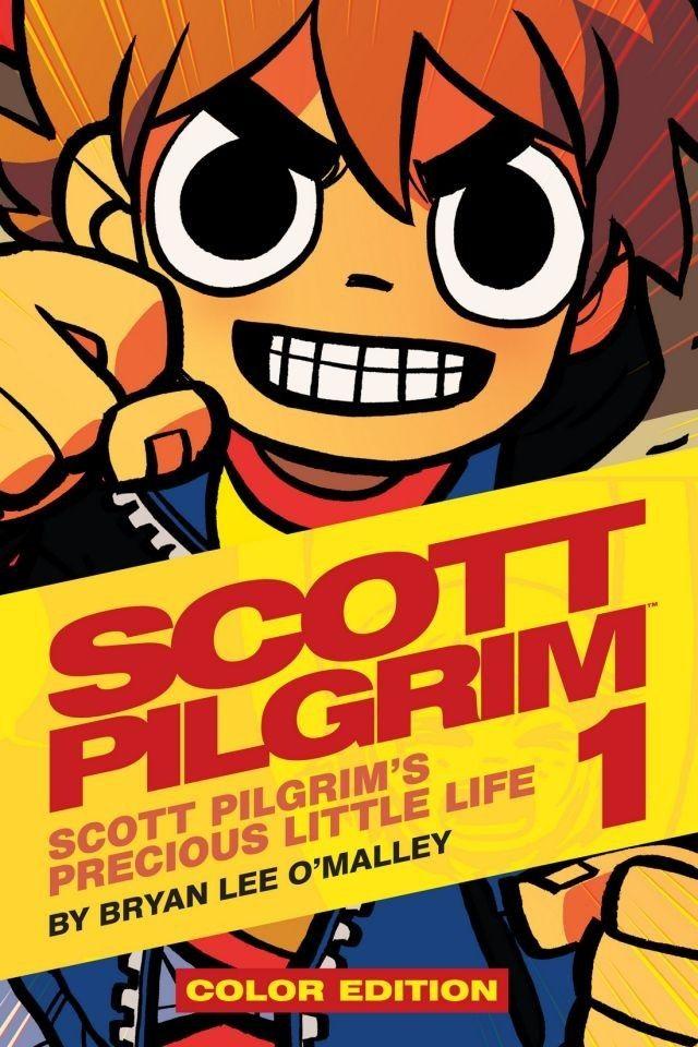 got them @ home in black and white -> Scott Pilgrim Vol. 1 (of 6): Scott Pilgrims Precious Little Life - Color Edition