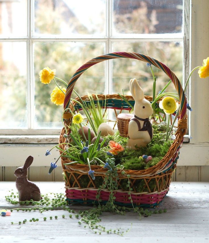 88 best natural easter images on pinterest easter baskets create natural easter basket with color see more ideas at terrain negle Images