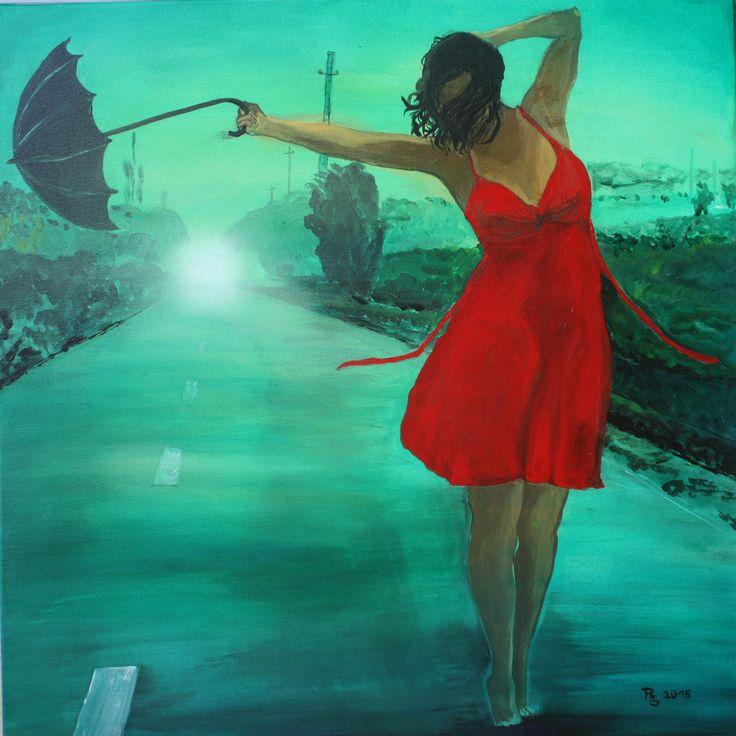 Dancing in the Rain Acryl, 80 x 80 cm