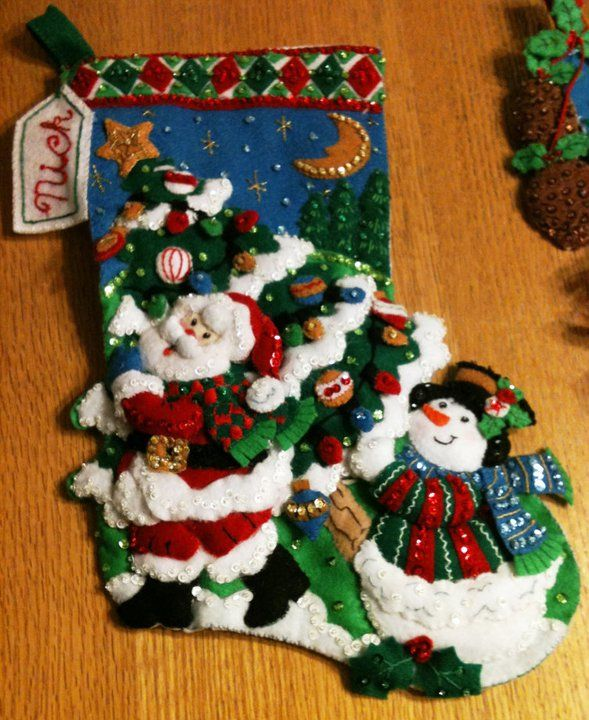 Tree Shopping Bucilla Christmas Stocking Kit