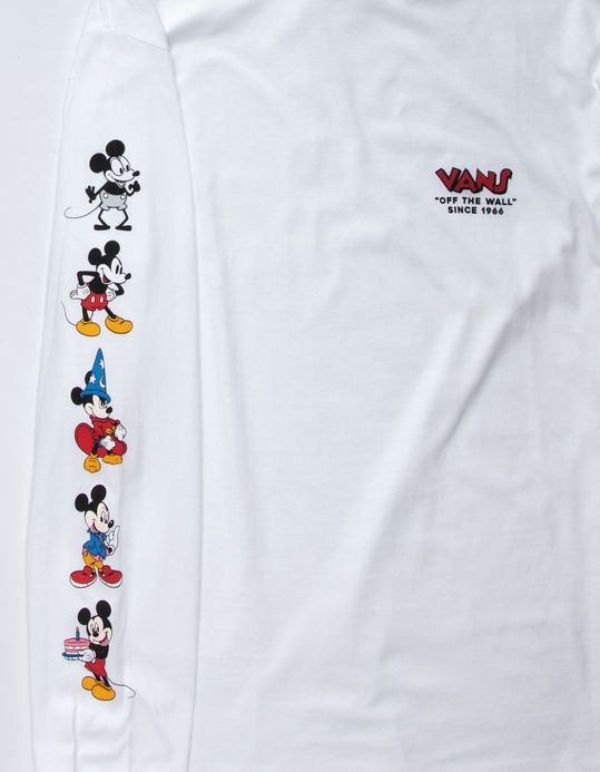 6a4416d1ab836b Vans x Disney 90th Birthday Mickey Mouse Thru the Ages Longsleeve T-Shirt   fashion  clothing  shoes  accessories  mensclothing  shirts (ebay link)
