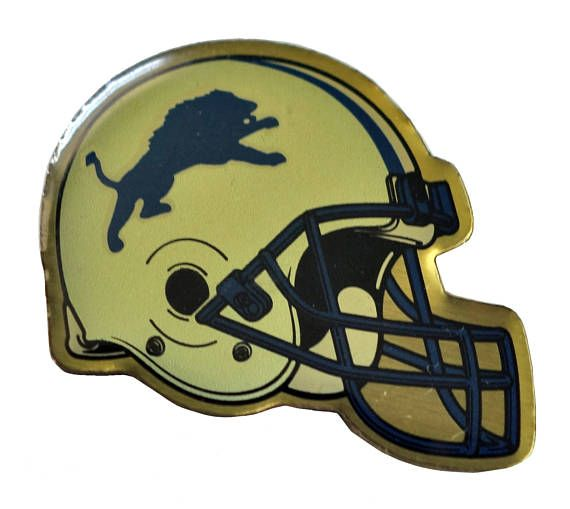 """DETROIT LIONS Helmet Logo vintage enamel pin badge nfl Football Michigan by VintageTrafficUSA  14.00 USD  A vintage Lions pin! Decent condition with light scuffs. Measures: approx 1"""" These rare pins are proven to win you friends and influence people! Add inspiration to your handbag tie jacket backpack hat or wall. -------------------------------------------- SECOND ITEM SHIPS FREE IN USA!!! LOW SHIPPING OUTSIDE USA!! VISIT MY STORE FOR MORE ITEMS!!! http://ift.tt/1PTGYrG FOLLOW ME ON…"""