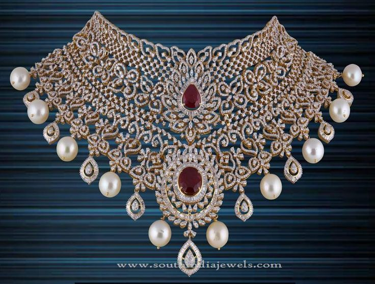 Diamond Necklace Sets from P.Satyanarayan