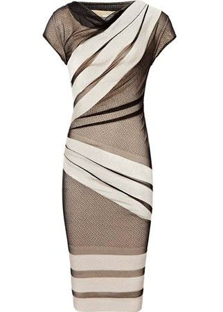 Reiss striped lace dress. Wedding guest dress