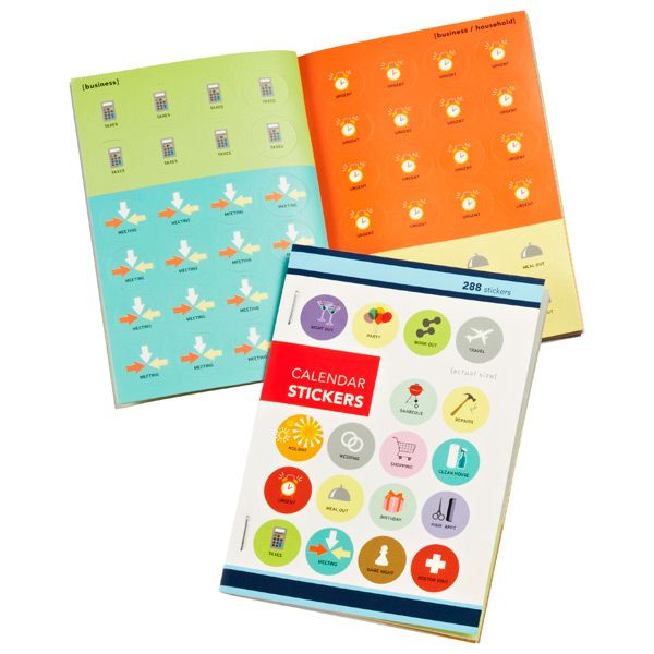 Calendar Stickers Leave yourself witty reminders with our Calendar Stickers. They tuck easily into planners so they're always close at hand, and you can choose from various categories to make important appointments, events, birthdays and anniversaries stand out. Small, compact design $6.99