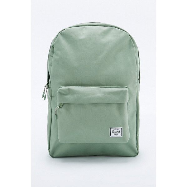 UO Exclusive Herschel Supply co. Classic 22L Foliage Mint Backpack (50 CAD) ❤ liked on Polyvore featuring bags, backpacks, mint, mint green backpack, backpack bags, mint backpacks, mint bag and herschel supply co backpack