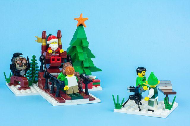 Winter Village Santa by LukeClarenceVan, via Flickr