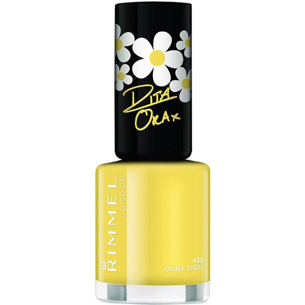 Rimmel Rita Ora Nail Polish DaisyDays450 ($3.62) ❤ liked on Polyvore featuring beauty products, nail care, nail polish, nails, rimmel, rimmel nail polish and shiny nail polish