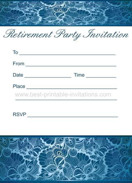 retirement party invitation free printable party invites from wwwbest printable invitations - Free Printable Retirement Party Invitations