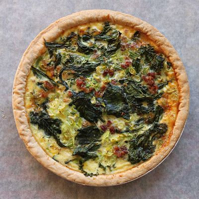 *very basic how-to for making quiche   *flexible recipe  *choose any type of veggie, meat, and cheese (leftovers maybe)