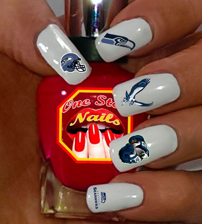 Seattle Seahawks Waterslide Nail Decals NFL-SS-001-68