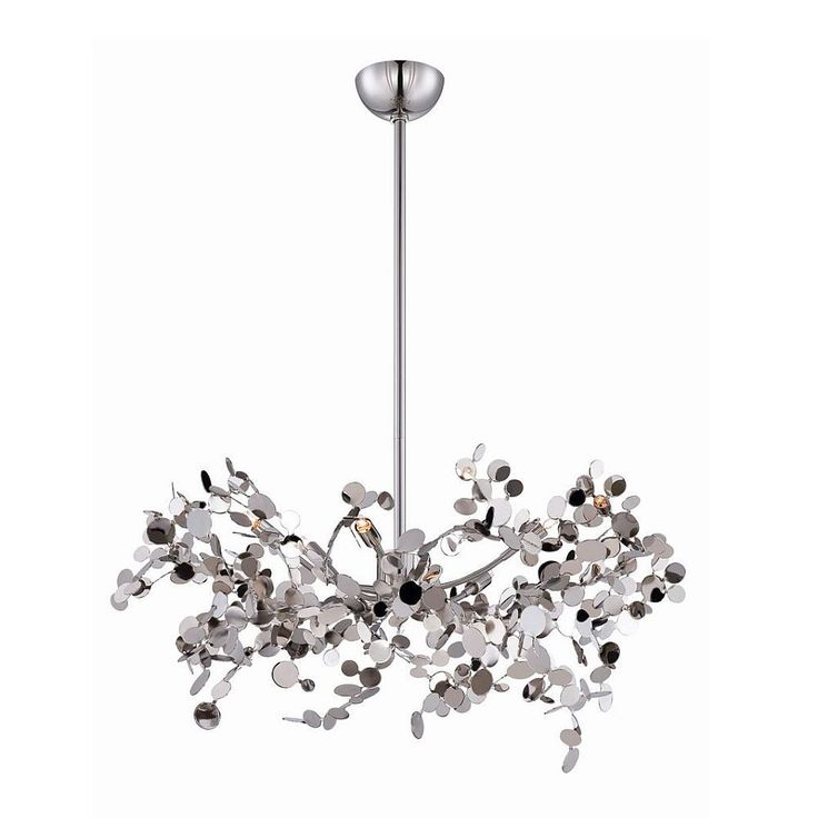 Divo Collection 5 Light Nickel Pendant