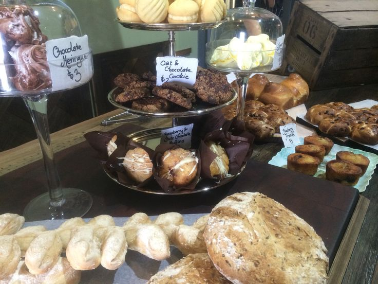 Cakes, pastries, breads galore, all on display on our bistro floor!