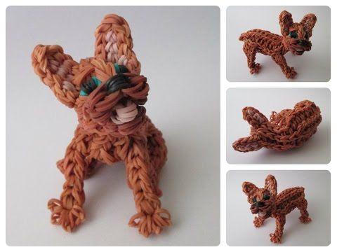 Rainbow Loom french bulldog puppy Part 1/2 Loombicious - YouTube