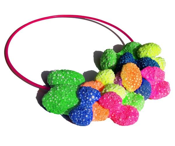 Multi coloured Necklace in foam clay