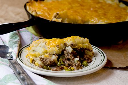 Shepherd's Pie  Rating: 5  Yield: 6-8 servings  Classic Shepherd's, or Cottage, Pie with ground beef and vegetables topped with creamy mashe...
