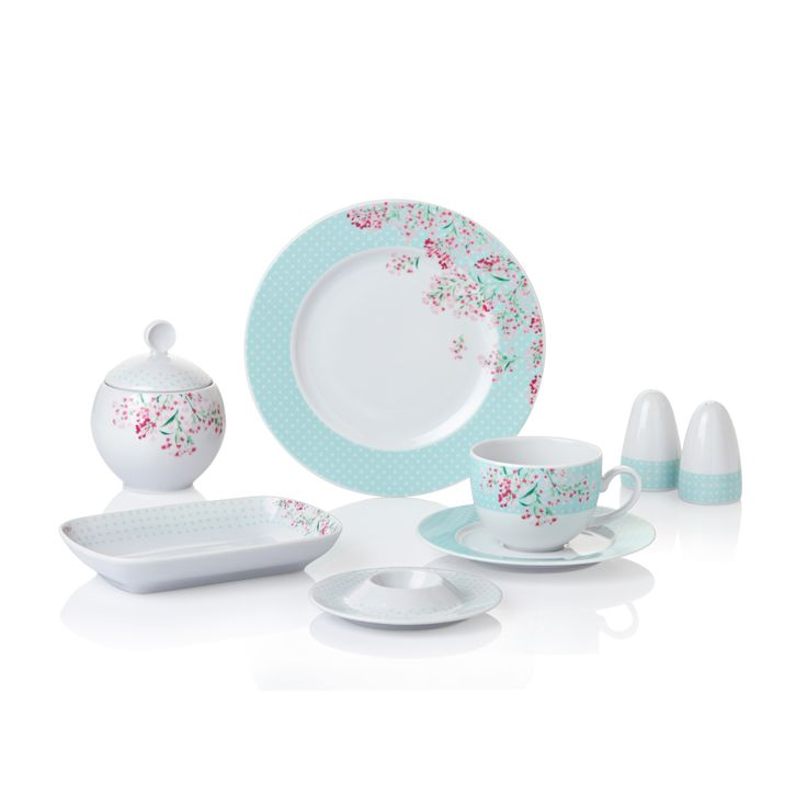 Bernardo Smirna Kahvaltı Takımı / Breakfast Set #bernardo #breakfast #tabledesign #blue #mavi