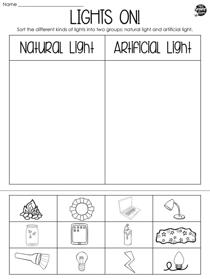 Page 1 (With images) Light science, First grade science