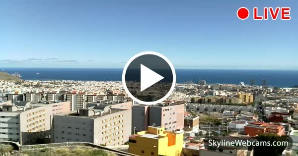 View from the capital of #Tenerife for live #weather forecast. Live cam >