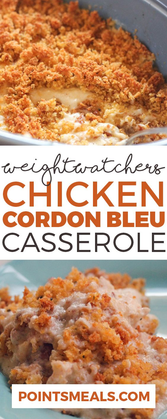 CHICKEN CORDON BLEU CASSEROLE (WEIGHT WATCHERS SMARTPOINTS) (Bake Ideas Chicken Breasts)