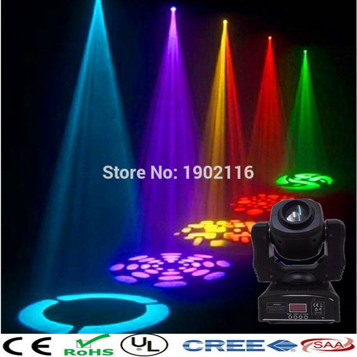 2017 HOT NEW 60W Led Moving Head /Spot Effect stage Light/ 60W DJ Disco Lights /RGBW 4in1 60w led gobo lamp/KTV club lights/LED