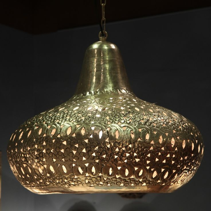 Orientalna lampa wisząca srebrna duża