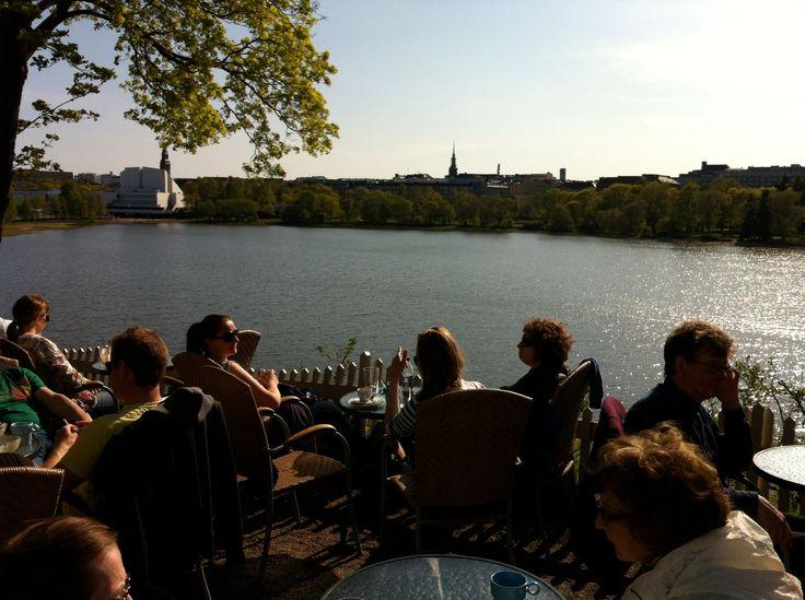 Sinisen huvilan kahvila - Helsinki