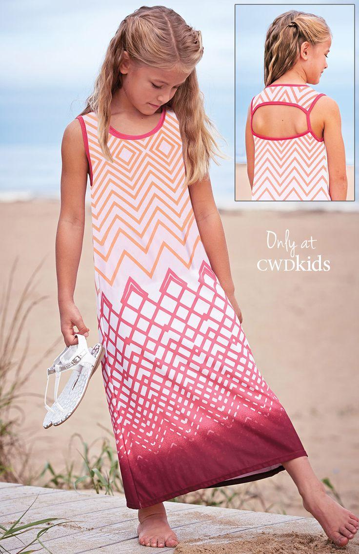 From CWDkids: Chevron Maxi Dress