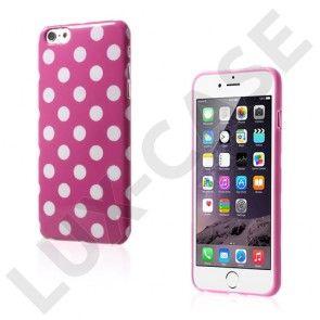 Polka (Hot Pink / Hvid) iPhone 6 Plus Cover
