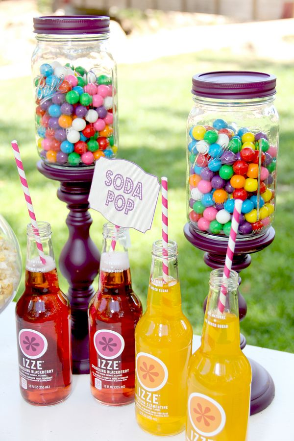 Colorful Display for Carnvial/Circus/Kids/Summer Parties (Candy, Sodas and Popcorn)