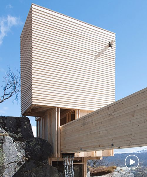 eldmølla sauna by NTNU students has a footprint of just five square meters