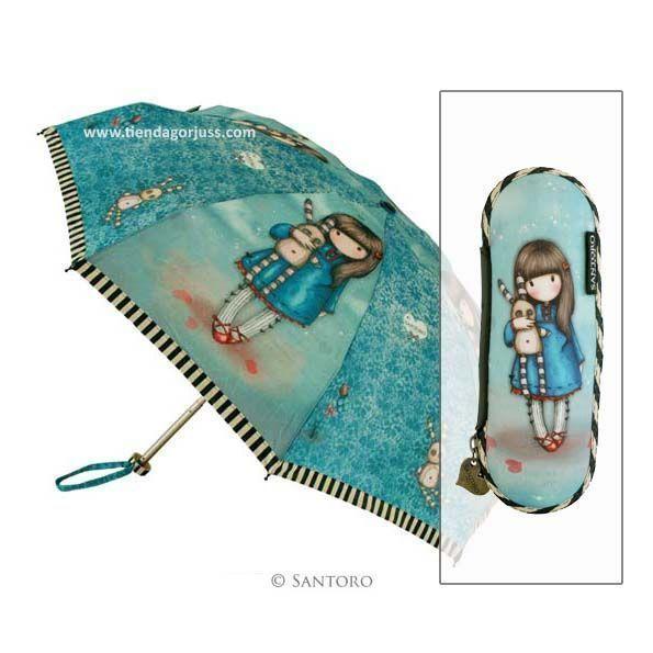 """Paraguas Gorjuss con Funda Rígida de """"Hush Little Bunny"""" con el que podrás combatir esos días de lluvia consiguiendo un look de lo más Gorjuss y lo mejor, estará bien guardado dentro de su funda!  #gorjuss #santorolondon #paraguas #lluvia #complementos"""
