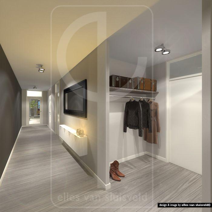 17 beste idee n over garderobe ontwerp op pinterest wandel kast kastruimte en kleerkasten - Entreehal met trap ...