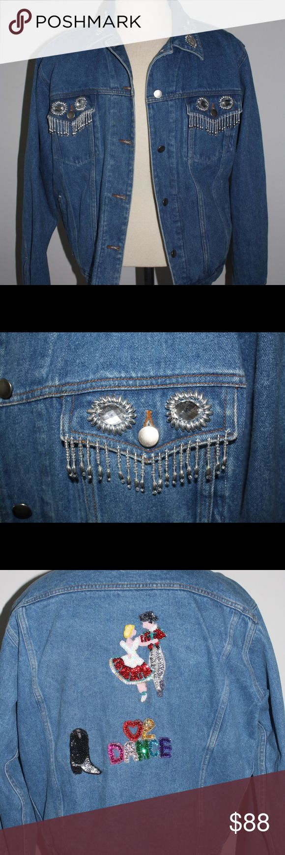 Embellished Denim Jacket Vintage Embellished denim jacket. This piece was obviously made with love and craftsmanship. I fell in love with this jacket when I saw it. Hopefully it can find a home that will absolutely love it too. Jackets & Coats Jean Jackets