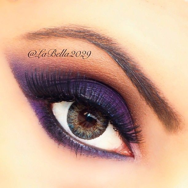 Purple smoky eyeeeee #labella2029